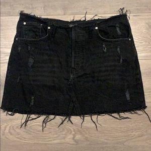 NWOT BDG Urban Outfitters Denim Mini Black Skirt